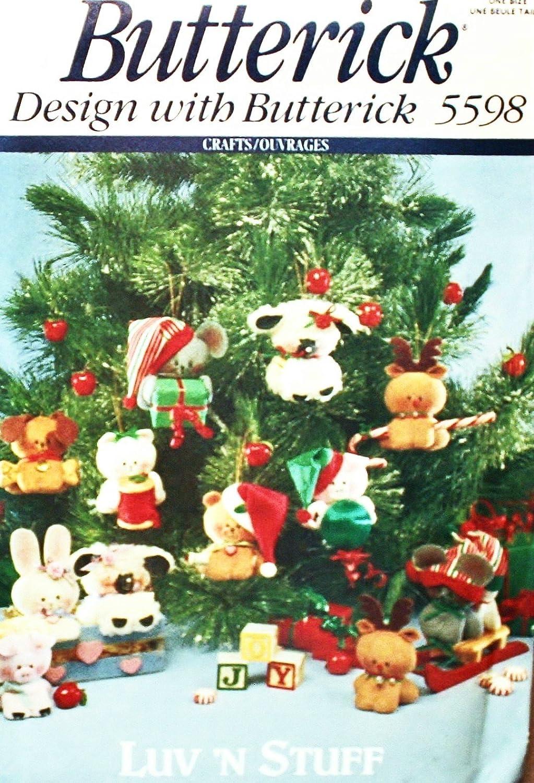 BUTTERICK CRAFT PATTERN 5598 LUV N STUFF CHRISTMAS ORNAMENTS