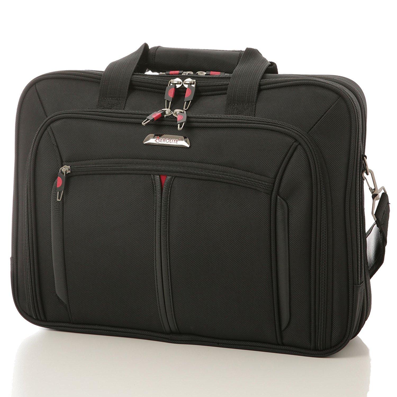Aerolite 17' Sacoche pour Ordinateurs Portables / Tablettes / MacBook Pro sac en bandouliè re, Noir, 43 cm, 17 liters LB17 BLACK