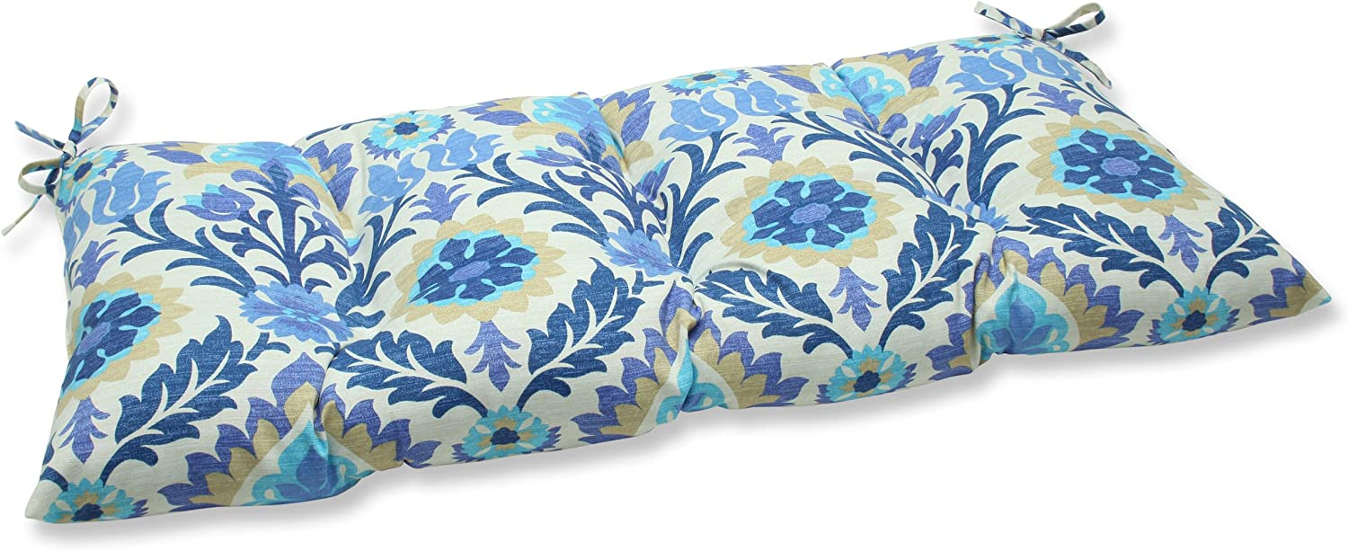 Pillow Perfect Indoor/Outdoor Santa Maria Azure Swing/Bench Cushion,Blue