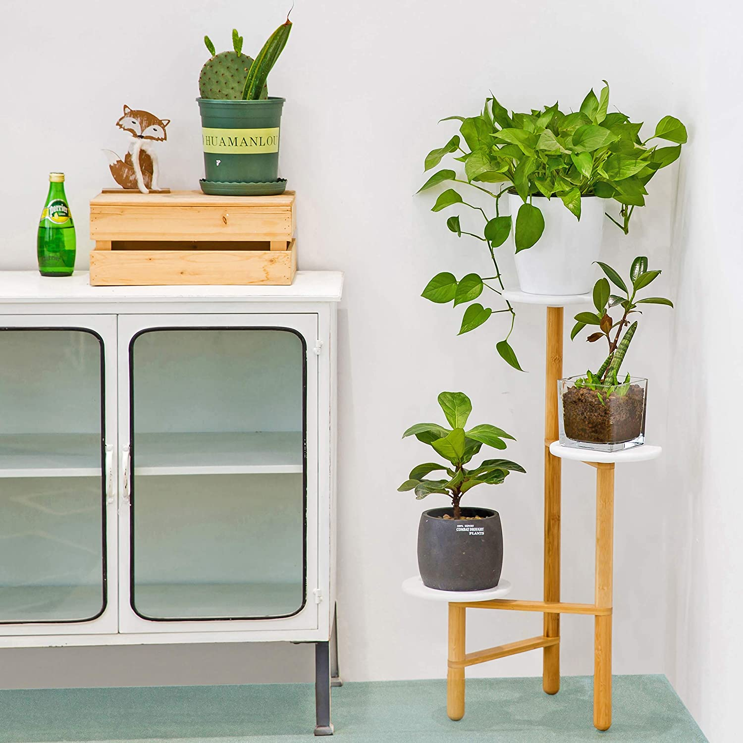 Homerays Bamboo Plant Stand