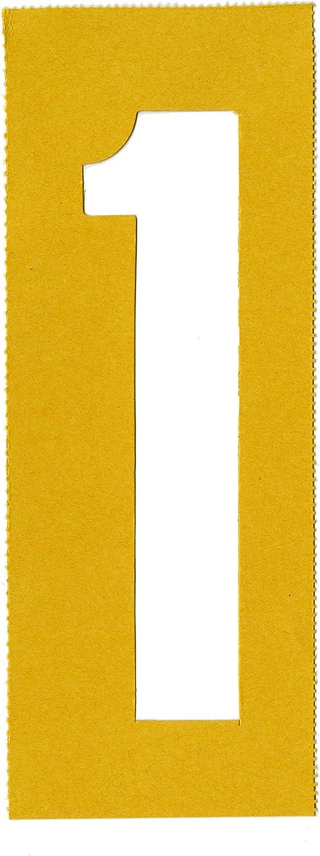 0 jaune Chartpak Lettre et nombre Pochoirs de peinture 01555 A-Z et 0 51 mm 5,1/cm H 35/par lot 9 2