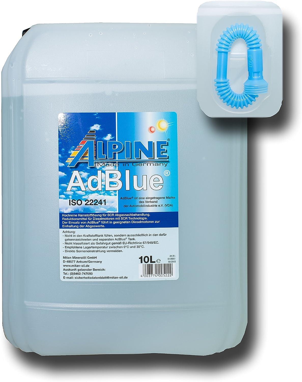 Alpine Adblue Hochreine Harnstofflösung Für Scr Abgasnachbehandlung 10 Liter H1 14 Auto