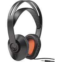 One For All HP1010 Corded TV Headphones with self-adjusting headband (Over-Ear for TV/Music/PC) -  with Voice Clear Technology integrated - Black