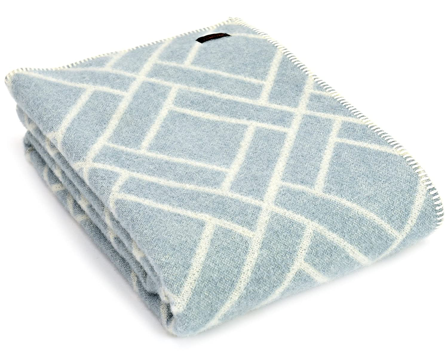 light blue wool throw