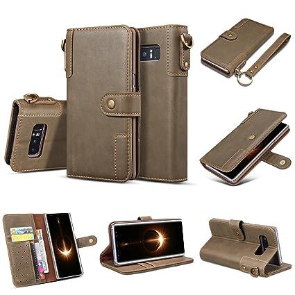 Alfort Samsung Note 8 Funda Carcasa Samsung Galaxy Note8 Case La Tapa de la Cubierta del Cuero Vintage Cover con Soporte Plegable y Ranura de Tarjeta ...