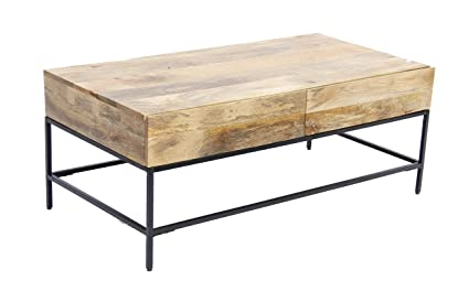 mango wood coffee table Amazon.com: The Urban Port Mango Wood Coffee Table with 2 Drawers  mango wood coffee table