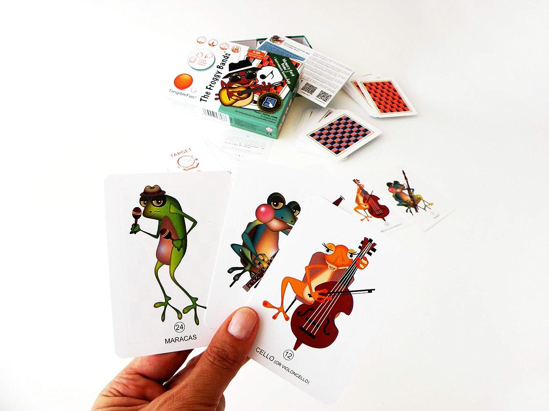 TangibleFun | The Froggy Bands | Juego de Cartas Educativo con App para iPad, Tablet y Smartphones de Sonidos Instrumentos Musicales y Bingo Sounds