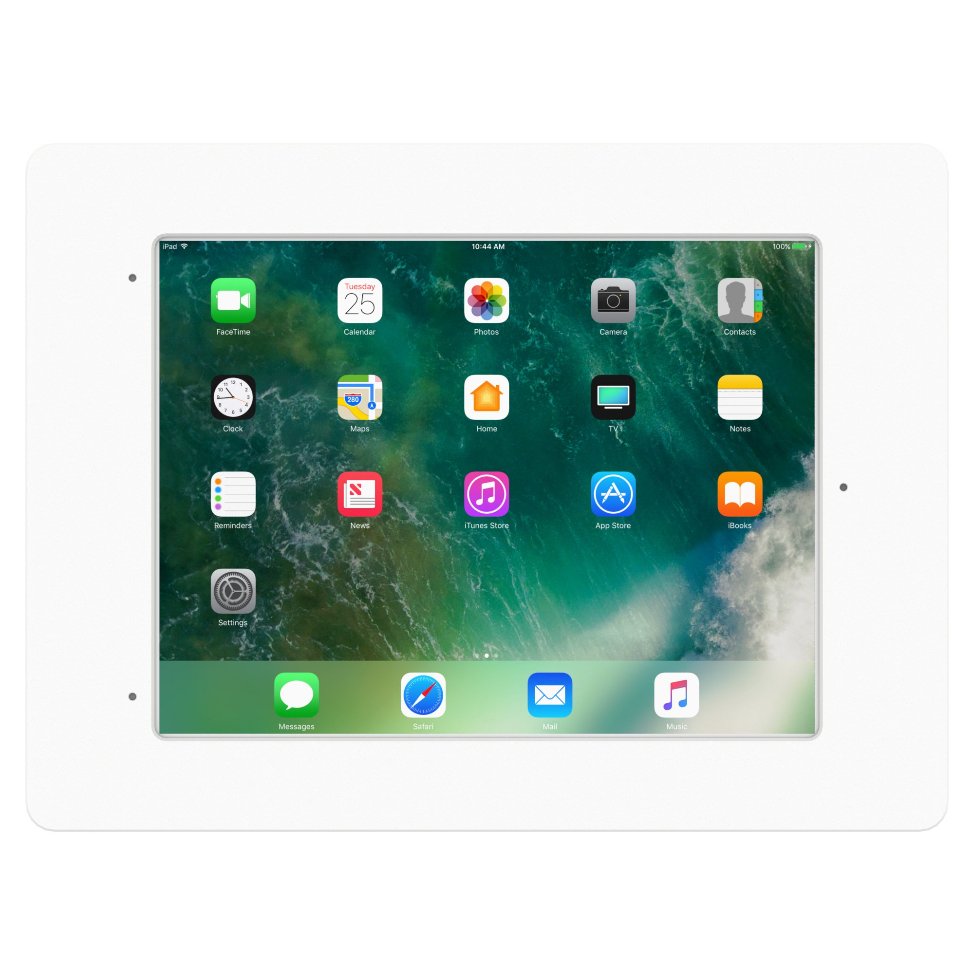 iPad Pro 10.5'' White Home Button Covered Tilting Removable Glass Mount [Bundle] by VidaMount (Image #3)