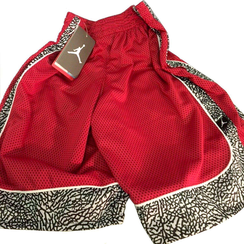 b9c47131a6dded Galleon - Jordan Nike Boys  Elephant Print Dri-Fit Basketball Shorts (Gym  Red