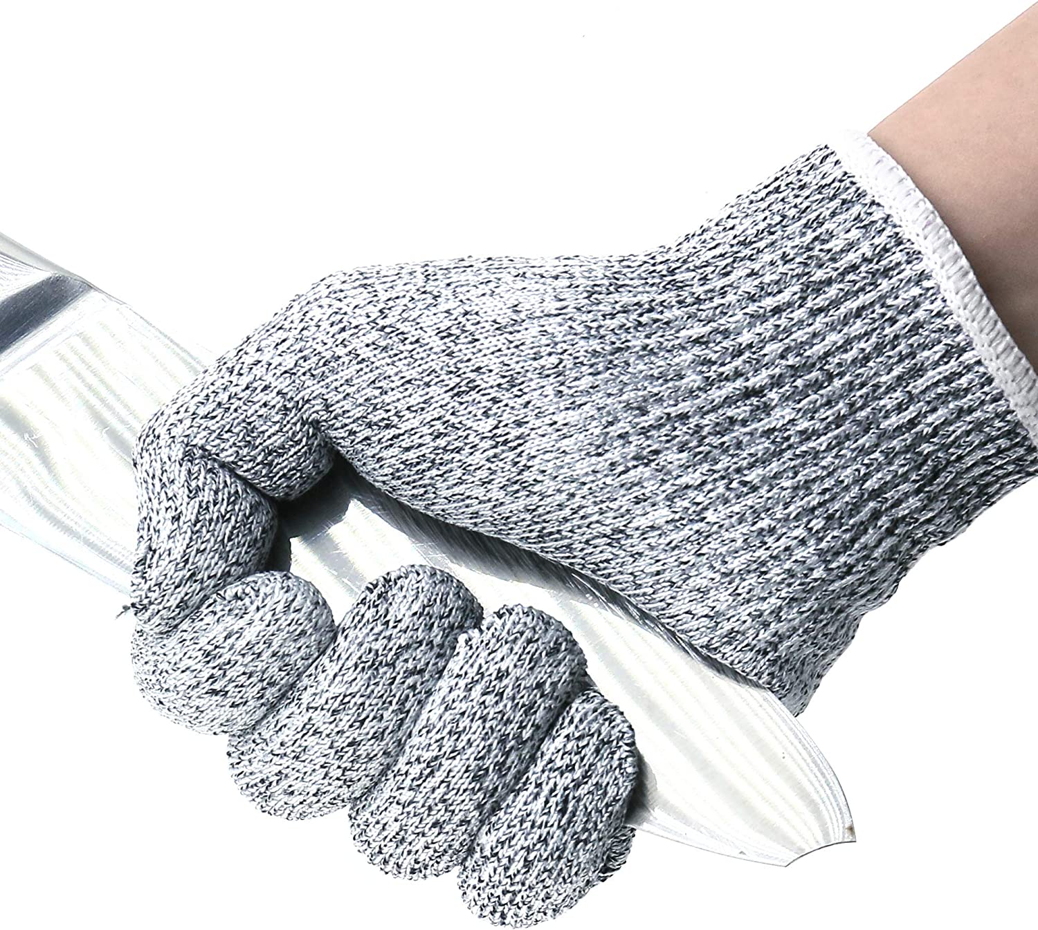 TOREGE Cut Resistant Gloves,Cut Proof Gloves Of Food Grade,High Performance Anti-Cut Material, Great For Cooking,Working,Cutting Etc (Unsex M)
