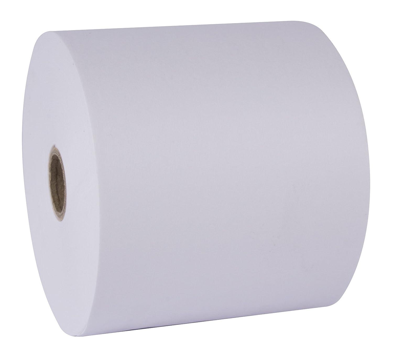 APLI 15247 - Pack de 10 rollos de papel térmico sin fenol, 57 x 40 x 12 mm, color blanco