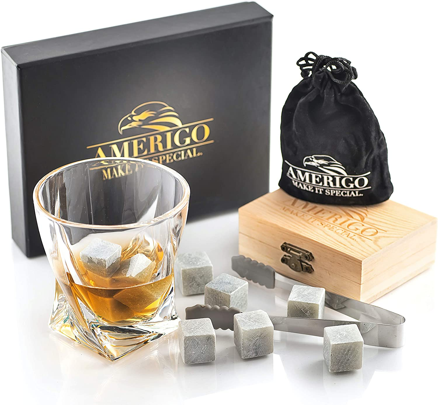 Wine Vodka Cocktails or any other beverage Whiskey Stones- Reusable whisky ice stone for Whiskey