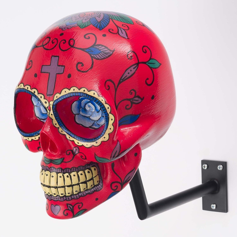 H Skull Helm Halter Im Totenkopf Design Mexican Red Auto