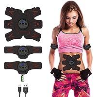AB Toner EMS Estimulador Muscular Electrico Entrenador Abdominal Recargable Abs Trainer Electroestimulador Muscular para Hombres y Mujeres Abdomen/Brazo/Pierna