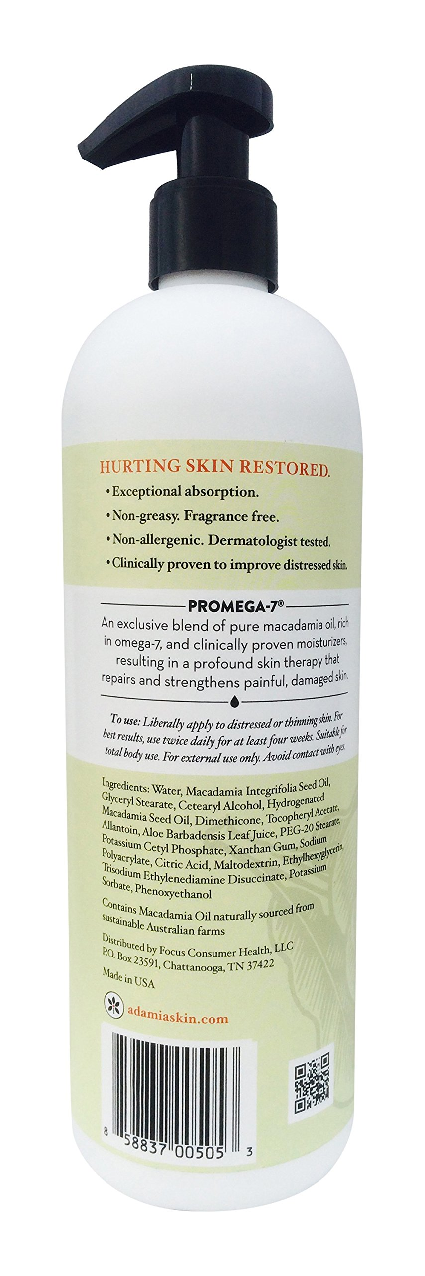 Adamia Therapeutic Repair Lotion with Macadamia Nut Oil and Promega-7, 16 Ounce by Adamia (Image #2)