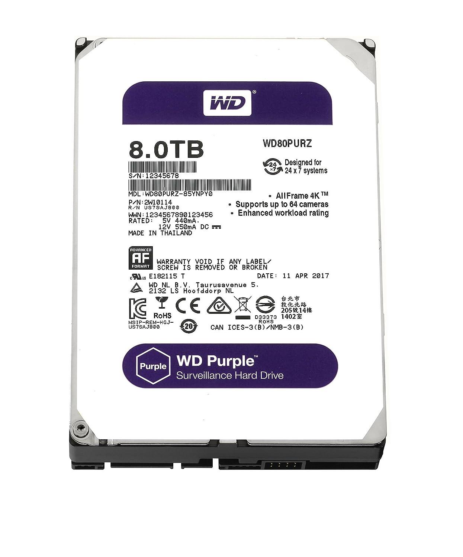 WD Purple 3.5 SATA 6Gb//s 8TB 5400rpm HDD