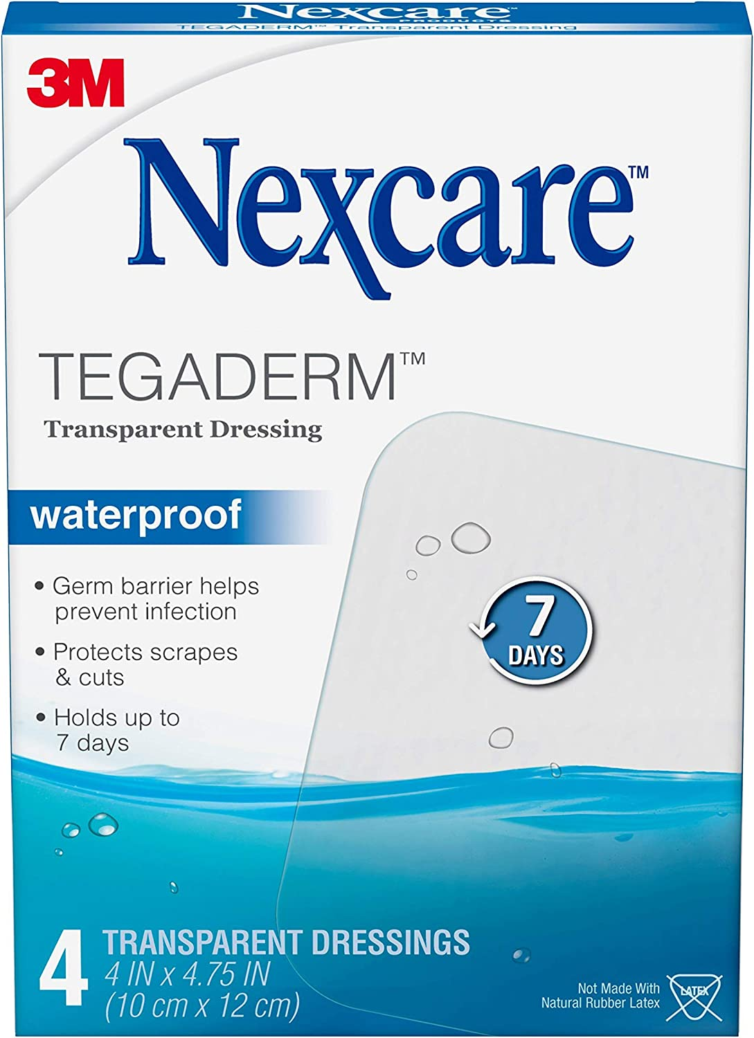 Nexcare tegaderm Waterproof Transparent Dressing 8Count Pack of 3 2-3//8 x 2-3//4
