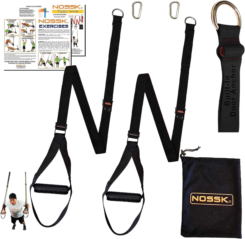 NOSSK Entrenador de correas gemelas Twin Pro Bodyweight (negro)