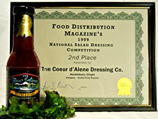 product image for The Coeur d'Alene Dressing Company - Award Winning Ginger and Huckleberry-Ginger Dressings - One 12 ounce Jar of Each.