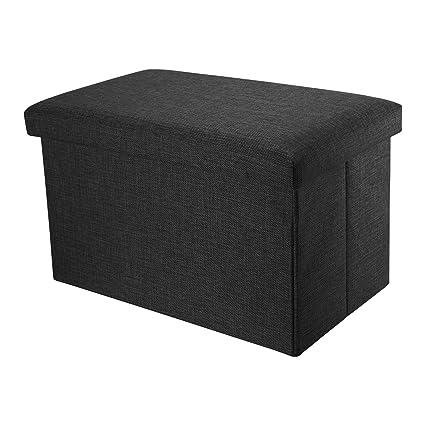 Intirilife - 49 x 30 x 30 cm Caja de Almacenaje Asiento Plegable de ...