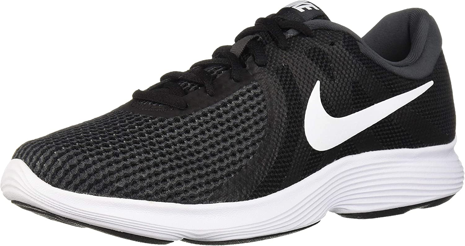 Nike Men s Revolution 4 Running Shoe, Black White-Anthracite, 12 Wide US