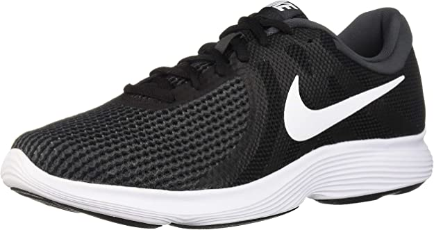 Nike Men's Revolution 4 Running Shoe, Black/White - Anthracite, 6.5 Wide US