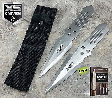 Amazon.com: SURVIVAL STEEL - Juego de 2 cuchillos tácticos ...