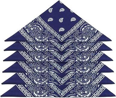 ZWOOS Pañuelos Bandanas, 6 Piezas Unisex Bandana, Cuello Multicolor Algodón bandanas, Cabeza Cuello Bufanda, Hombre Cuello Pañuelo Mujer Deportivo pañuelos Pañuelos(55CM * 55 CM): Amazon.es: Ropa y accesorios