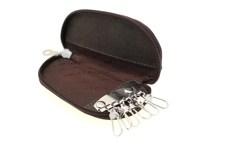Paul & Taylor Genuine Leather Zip Around Key Holder