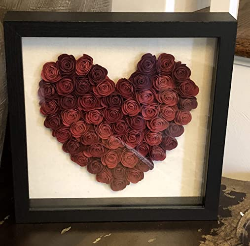 Amazon Beautiful Paper Flower Shadow Box Valentines Day Heart