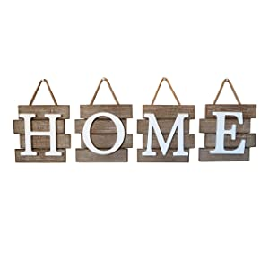 "Barnyard Designs Home Tile Sign Wall Decor, Rustic Primitive Country Decorative Wall Art for Home and Kitchen 32"" x 8"""