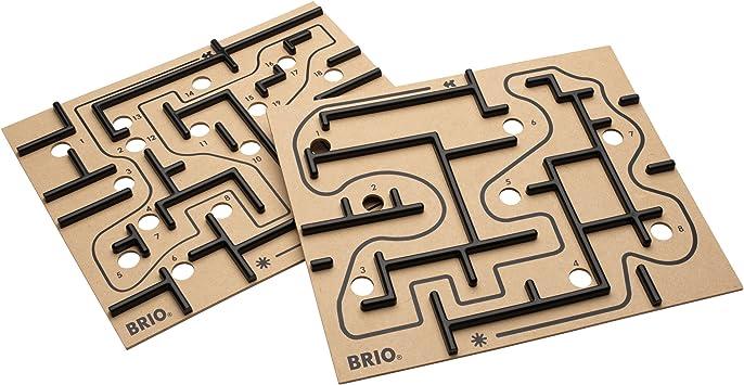 BRIO Labyrinth Boards - Accesorios para Juegos de Mesa (Negro, 6 ...