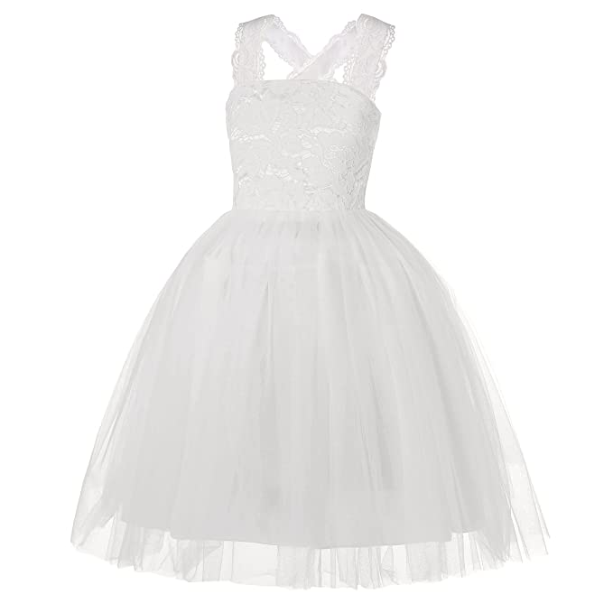 Vestido Princesa Niña,Vestido de Fiesta de Tul de Encaje Falda de Princesa para Niñas