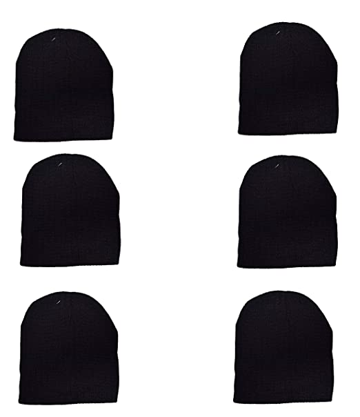 157bd6d97 OPT Brand. Wholesale 6 PCS Unisex Knit Short Plain Beanie Ski Cap ...