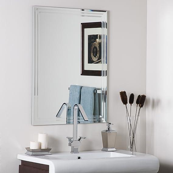 Decor Wonderland Frameless Tri Bevel Wall Mirror Home Kitchen Amazon Com