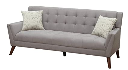Beau Furniture World Mid Century Sofa, Gray