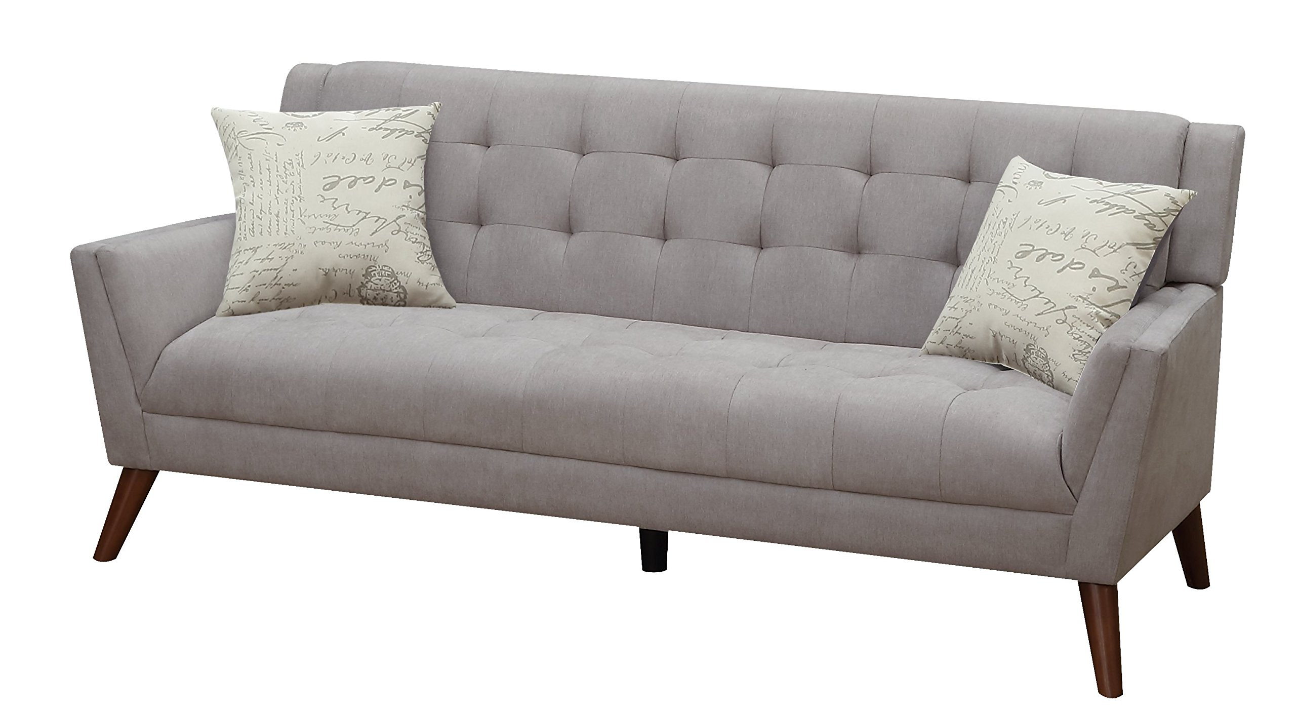 Furniture World Mid Century Sofa, Gray