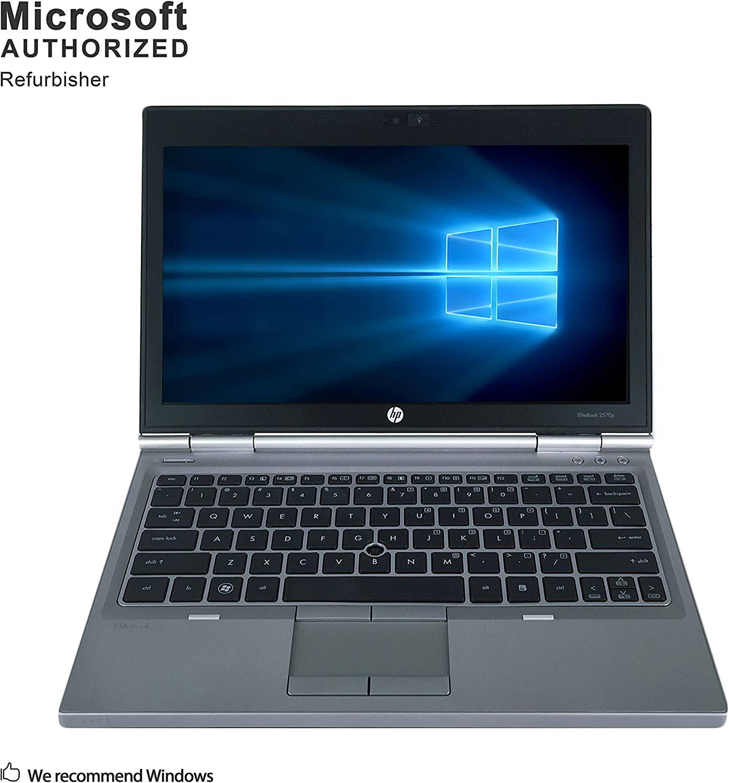 HP EliteBook 2570p 12.5 Inch Business Laptop, Intel Core i7 3520M up to 3.6GHz, 8G DDR3, 256G SSD, WiFi, DVDRW, VGA, DP, Windows 10 64 Bit Multi-Language Supports English/French/Spanish(Renewed)