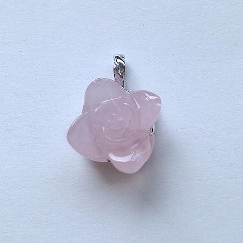 香る宝石SVローズクォーツペンダント通常¥26,800の所 (Ag925)