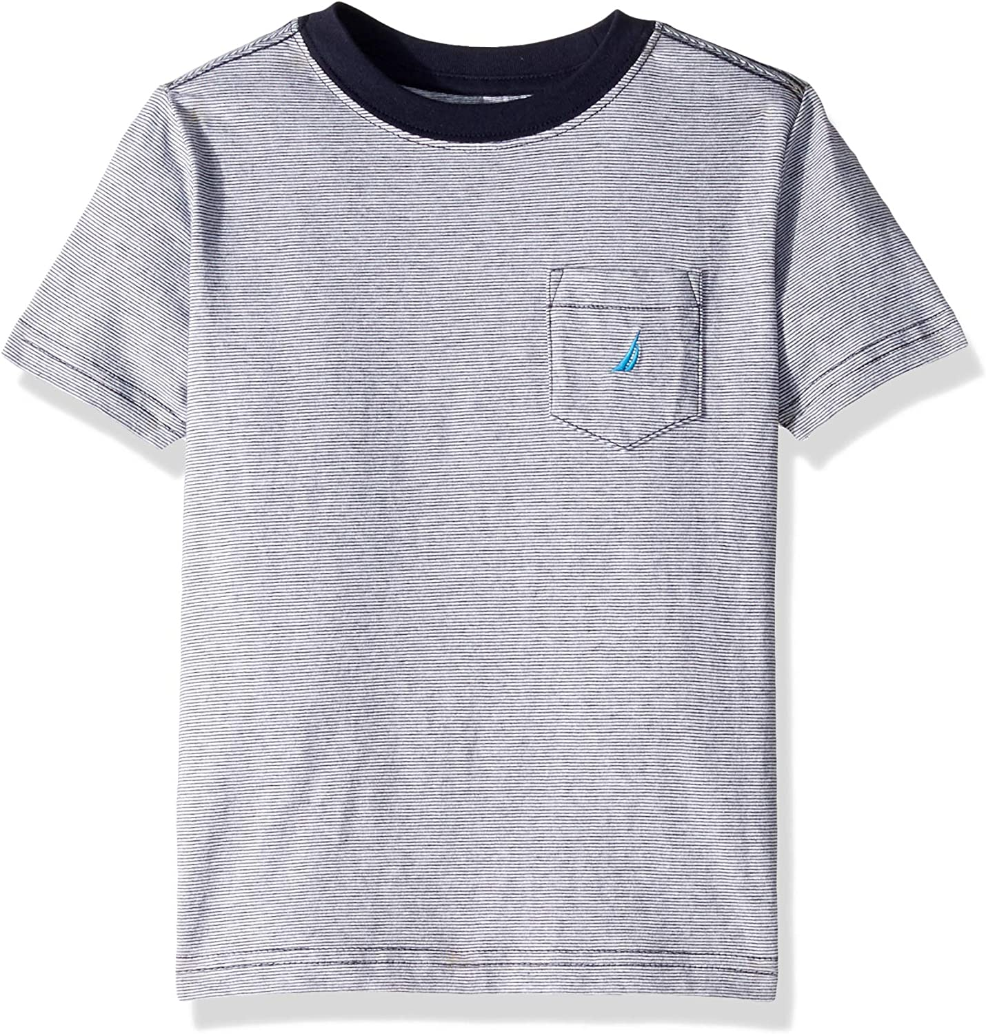 Nautica Boys Short Sleeve Solid Crew Neck Tee