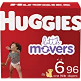 Baby Diapers Size 6, 96 Ct, Huggies Little Movers