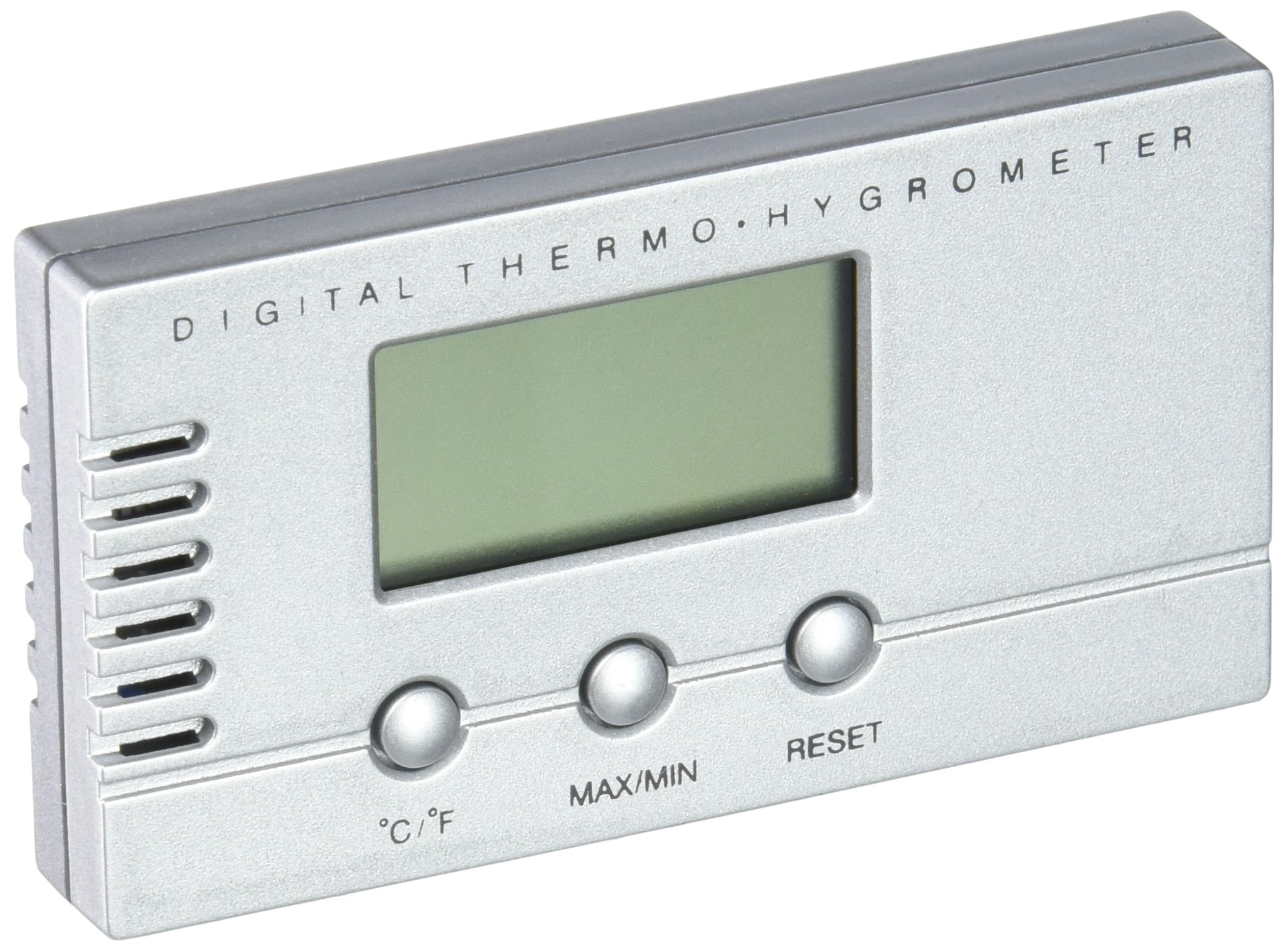 Visol Products VAC705 Silver Digital Thermometer and Hygrometer for Cigar Humidors