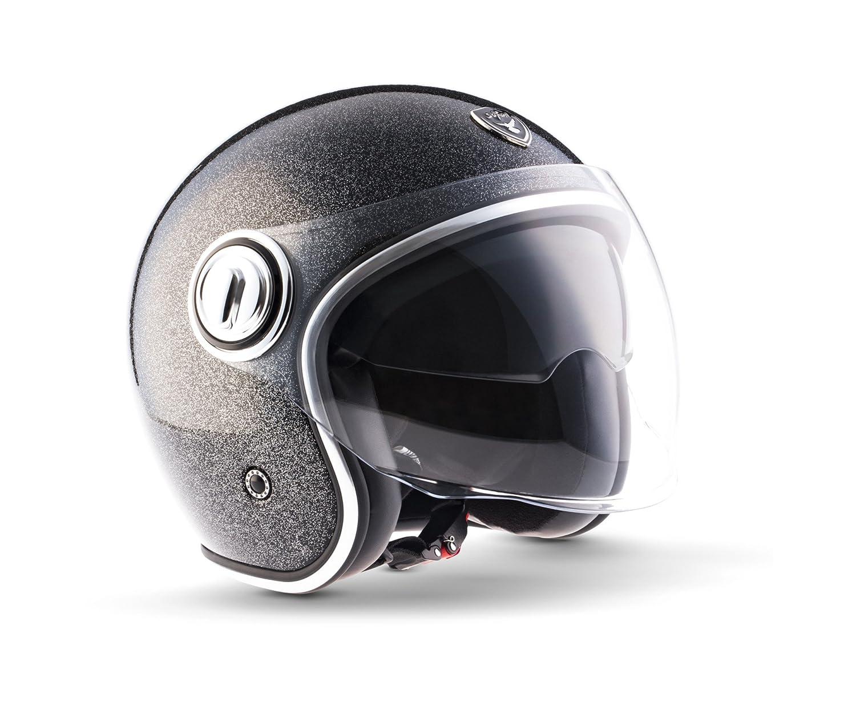 Amazon.es: Soxon SP de 888 Flakes – Aerógrafo Jet-Helm vintage Vespa, casco de Moto Chopper. Casco de Pilot Roller, casco Bobber Mofa Retro Cruiser Scooter, ...