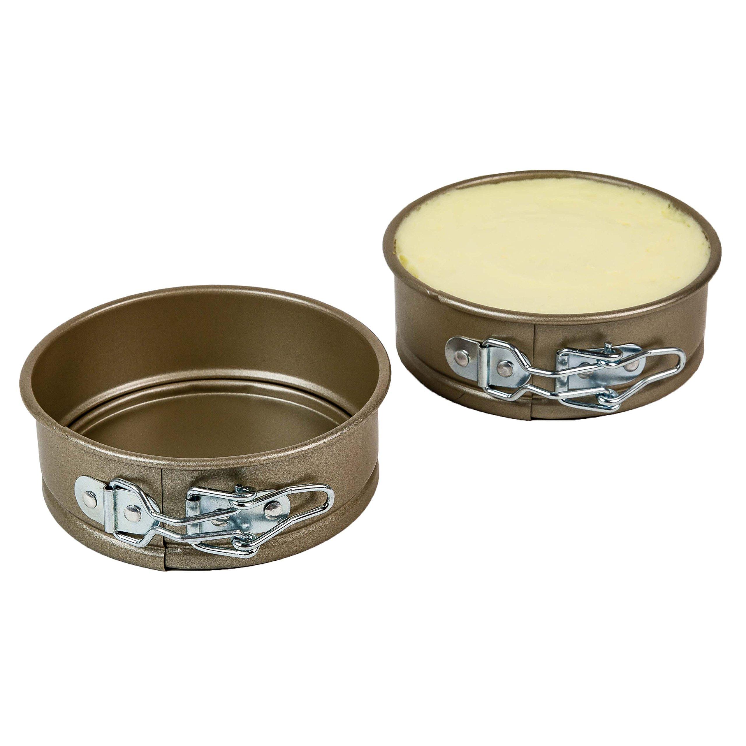 Ecolution Bakeins Mini Springform Cake Pan - 2pc, Champagne - Single Serving Bakeware