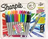Sharpie Fine Point 25 Permanent Markers 24 Assorted 1 Metallic Silver Limited Edition Pack