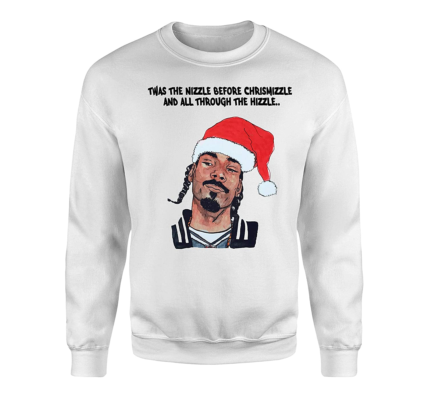 Snoop Dogg Christmas.Snoop Dogg Christmas Twas The Nizzle Before Chrismizzle And All Through The Hizzle Sweater And Tshirt Snoop Fun Rap Ugly Sweater Funny Christmas