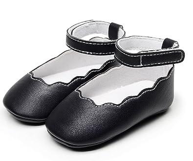 7ddaa26ddda34 Bebila Baby Girls Sandals Mary Jane Ankle Strap Soft Soled Summer Baby  Moccasins Toddler Crib Shoes