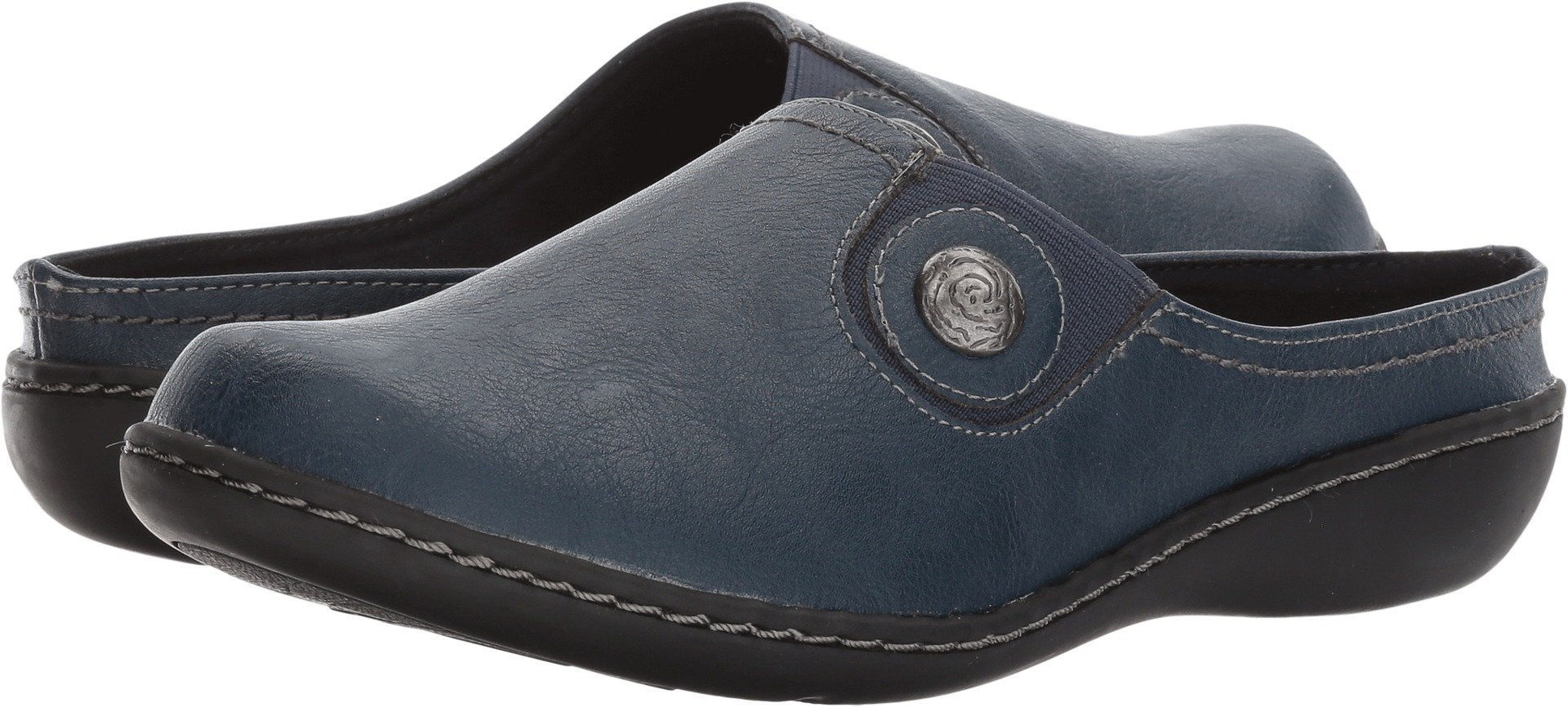 Soft Style by Hush Puppies Women's Jamila Mule, Navy, 7.5 W US