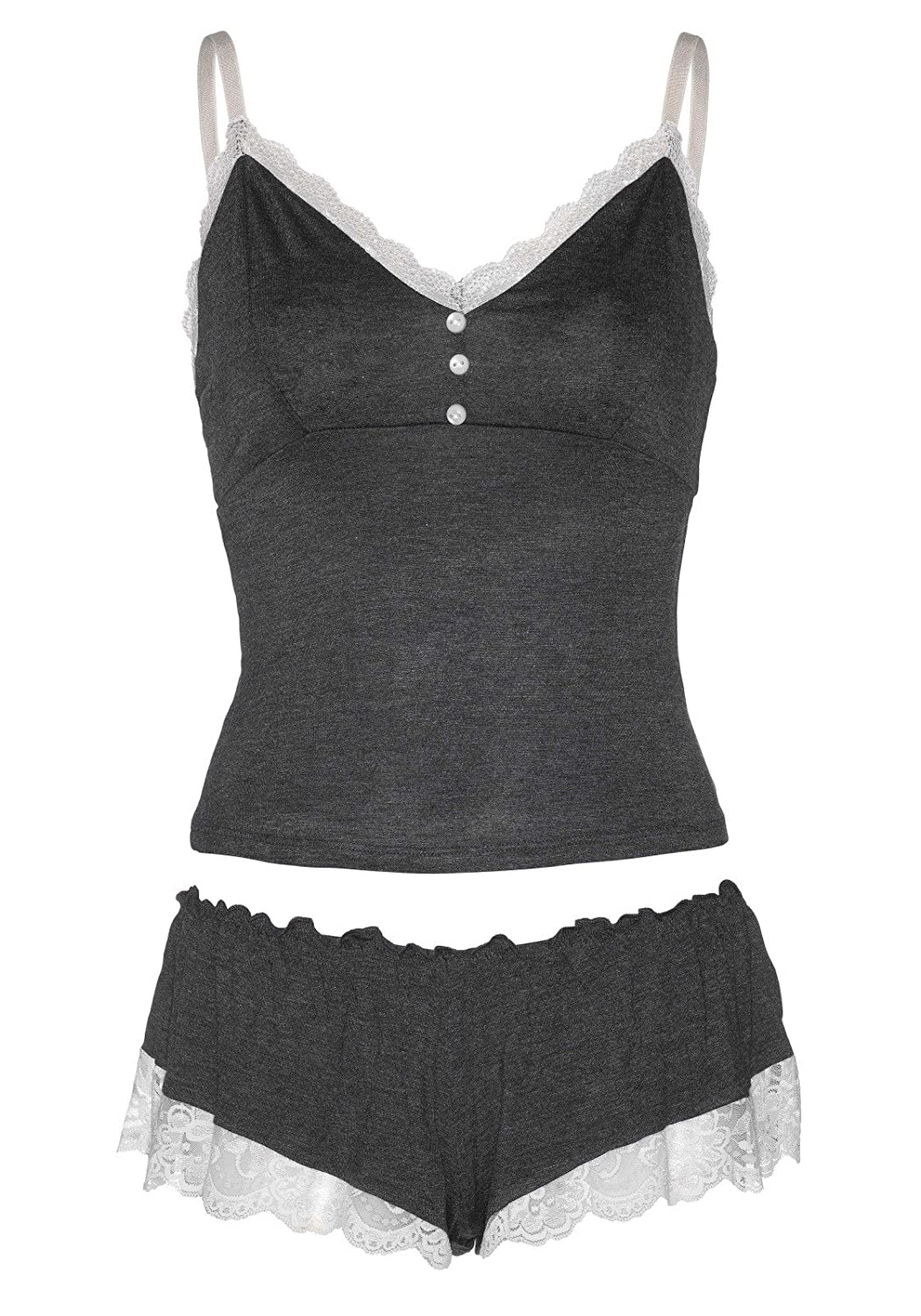 Leg Avenue Womens Seraphina 2 Piece Jersey Cami and Shorts