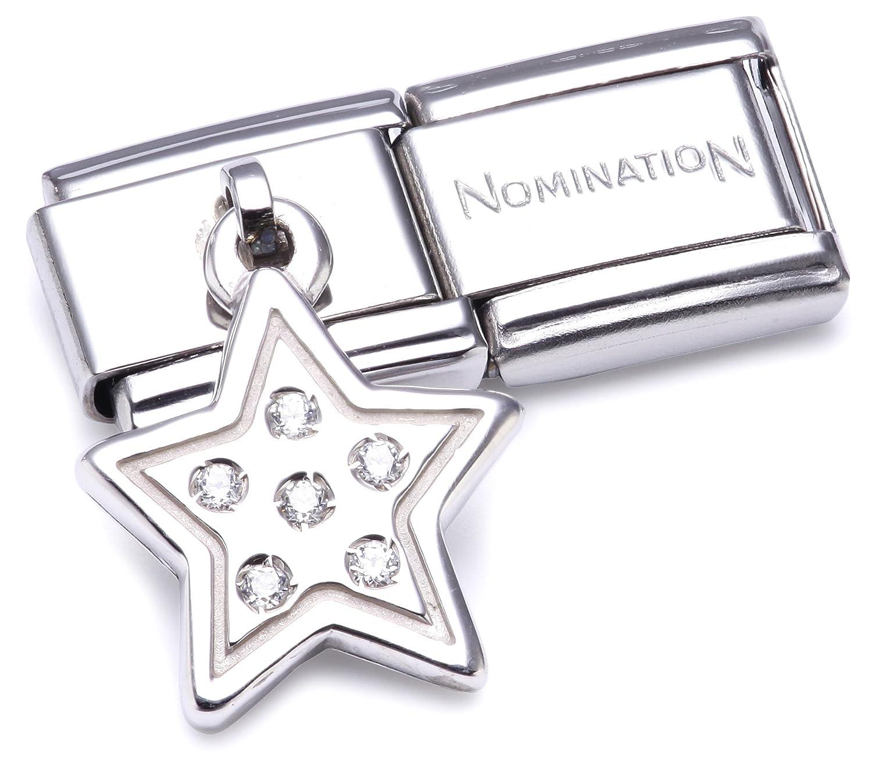 Nomination 031710/08 - Maillon pour bracelet composable Femme - Etoile - Acier inoxydable